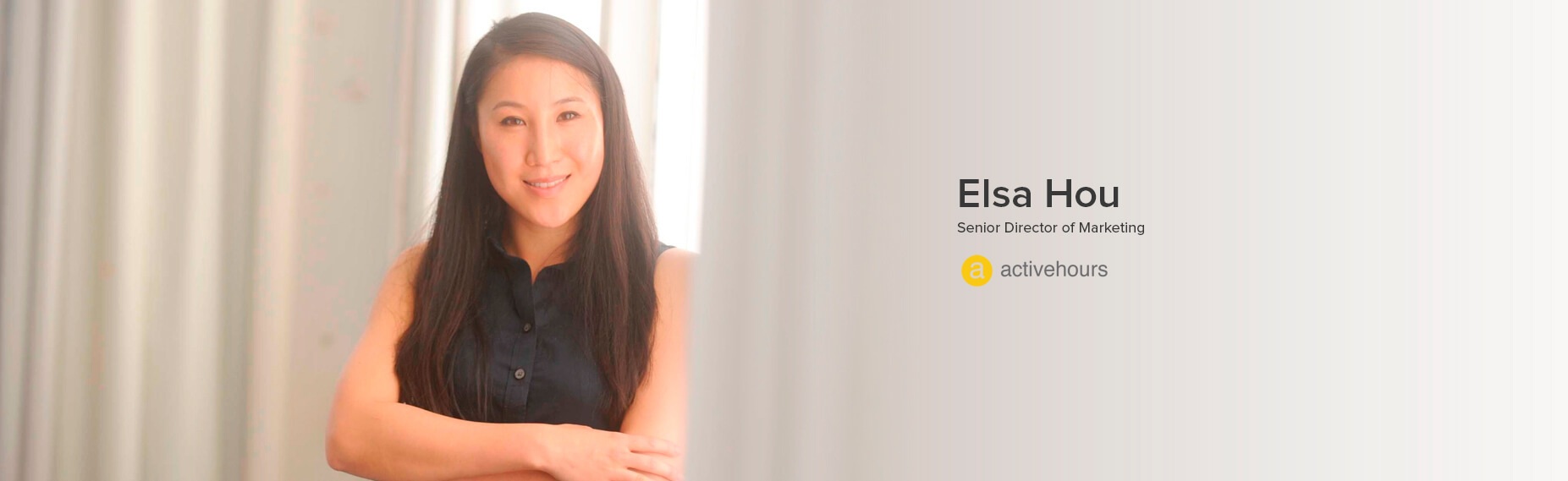 Elsa Hou, Senior Director of Marketing at Activehours